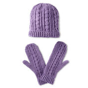 Patons Crochet Cables Hat and Mittens Set