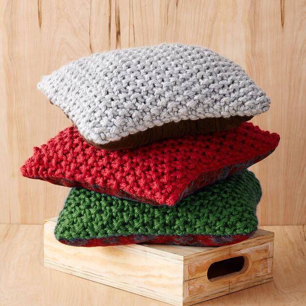 Bernat Perfect Christmas Pillows, Red