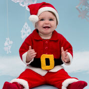 Red Heart Santa Baby Suit, 6/12 mos