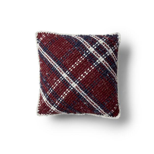 Bernat Argyle Plaid Crochet Pillow in color