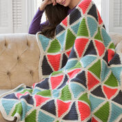 Go to Product: Red Heart Colorful Triangle Throw in color
