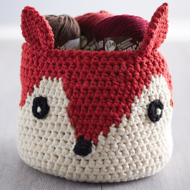 Lily Sugar'n Cream Foxy Stash Basket in color