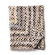 Caron Rectangular Crochet Granny Afghan