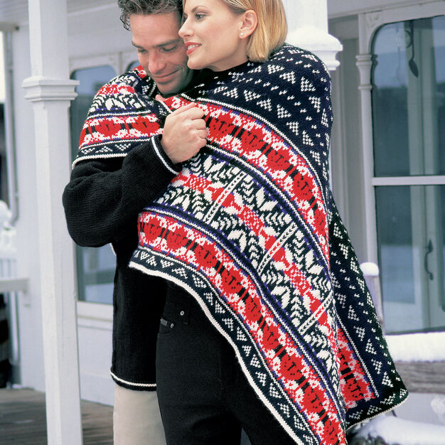 Patons Nordic Lap Blanket in color