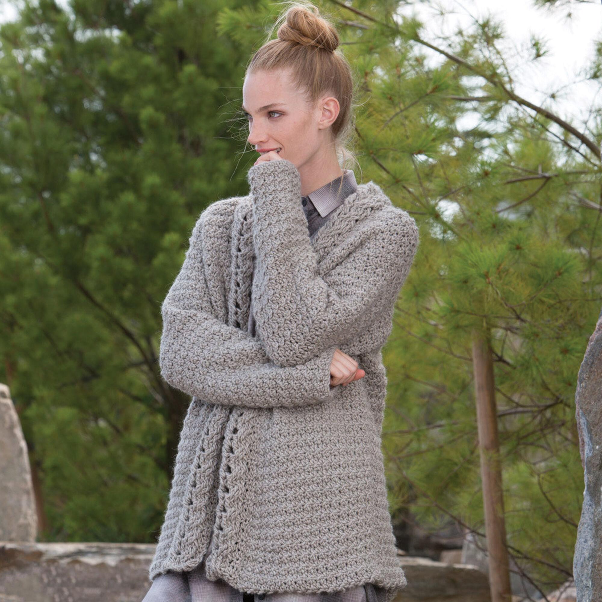73543c714365 ... Patons Slouchy Crochet Cardigan