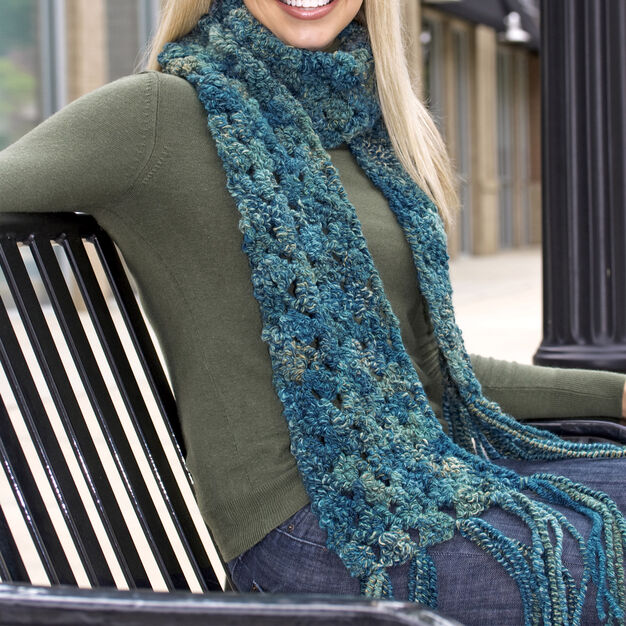 Red Heart Give Me Warmth Scarf in color