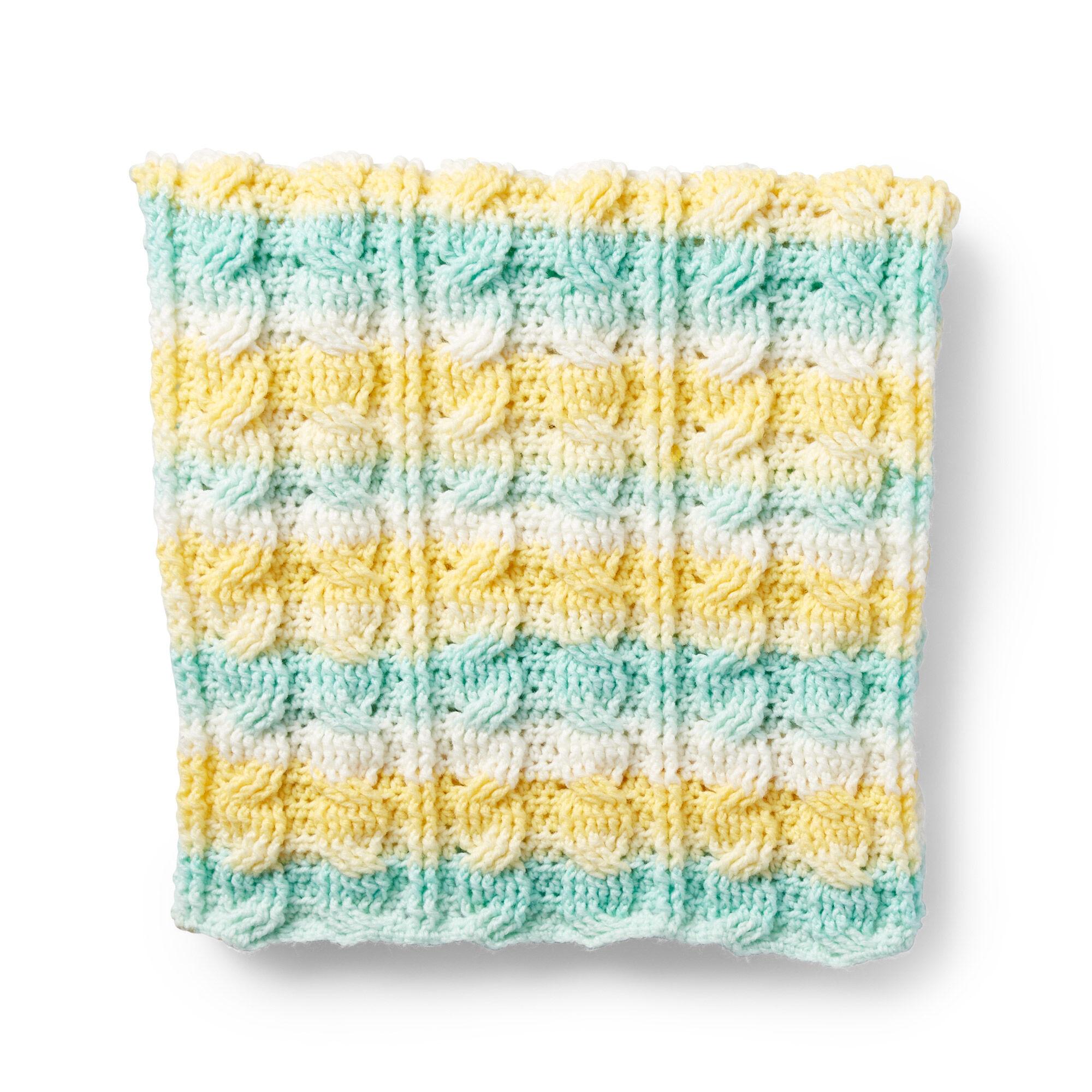Caron Citrus Cables Crochet Baby Blanket Pattern Yarnspirations