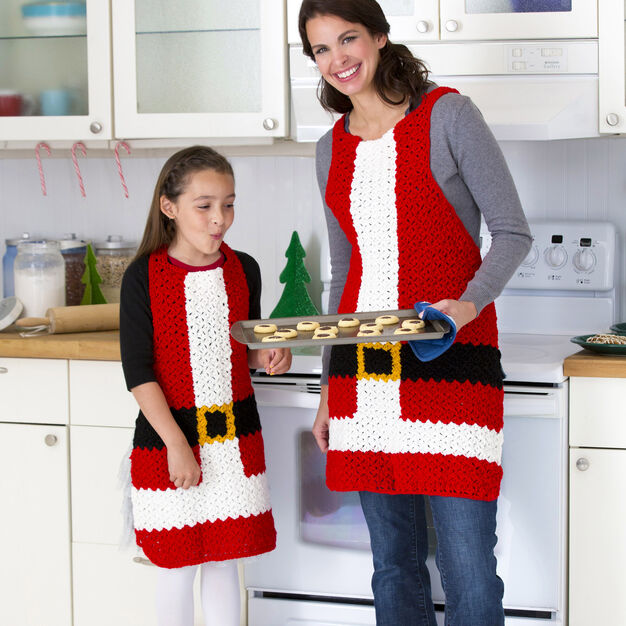 Red Heart Santa's Aprons, Child in color