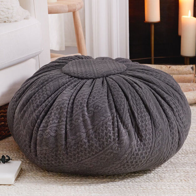 Coats & Clark Sweater Knit Floor Pouf in color