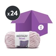 Go to Product: Bernat Velvet Yarn, Smokey Violet (Case of 24 Skeins) in color Smokey Violet