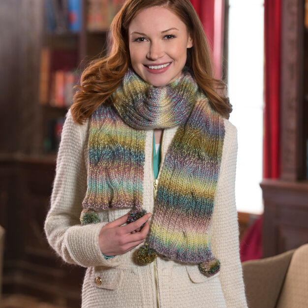 Red Heart Reversible Cable Scarf | Yarnspirations