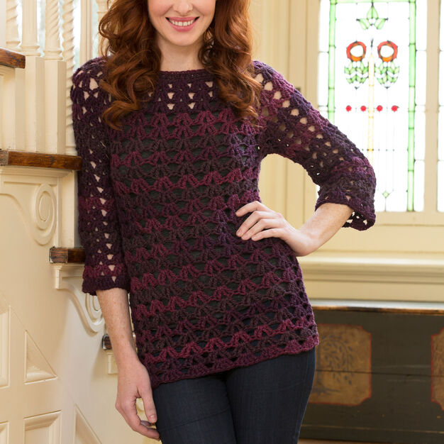Red Heart Mystique Tunic, S in color