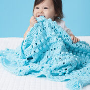 Bernat Textured Grid Baby Blanket