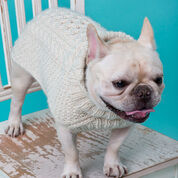 Red Heart Cabled Dog Sweater, XS