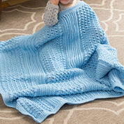 Go to Product: Red Heart Faux Ribbed Baby Blanket in color
