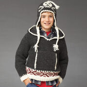 Bernat Skull Hoodie, Hat - 4 yrs