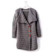 Go to Product: Bernat Big Collar Crochet Coat, XS/S in color