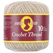 Go to Product: South Maid Crochet Thread, Size 10, Ecru in color Ecru