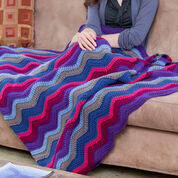 Red Heart Windsor Ripple Throw