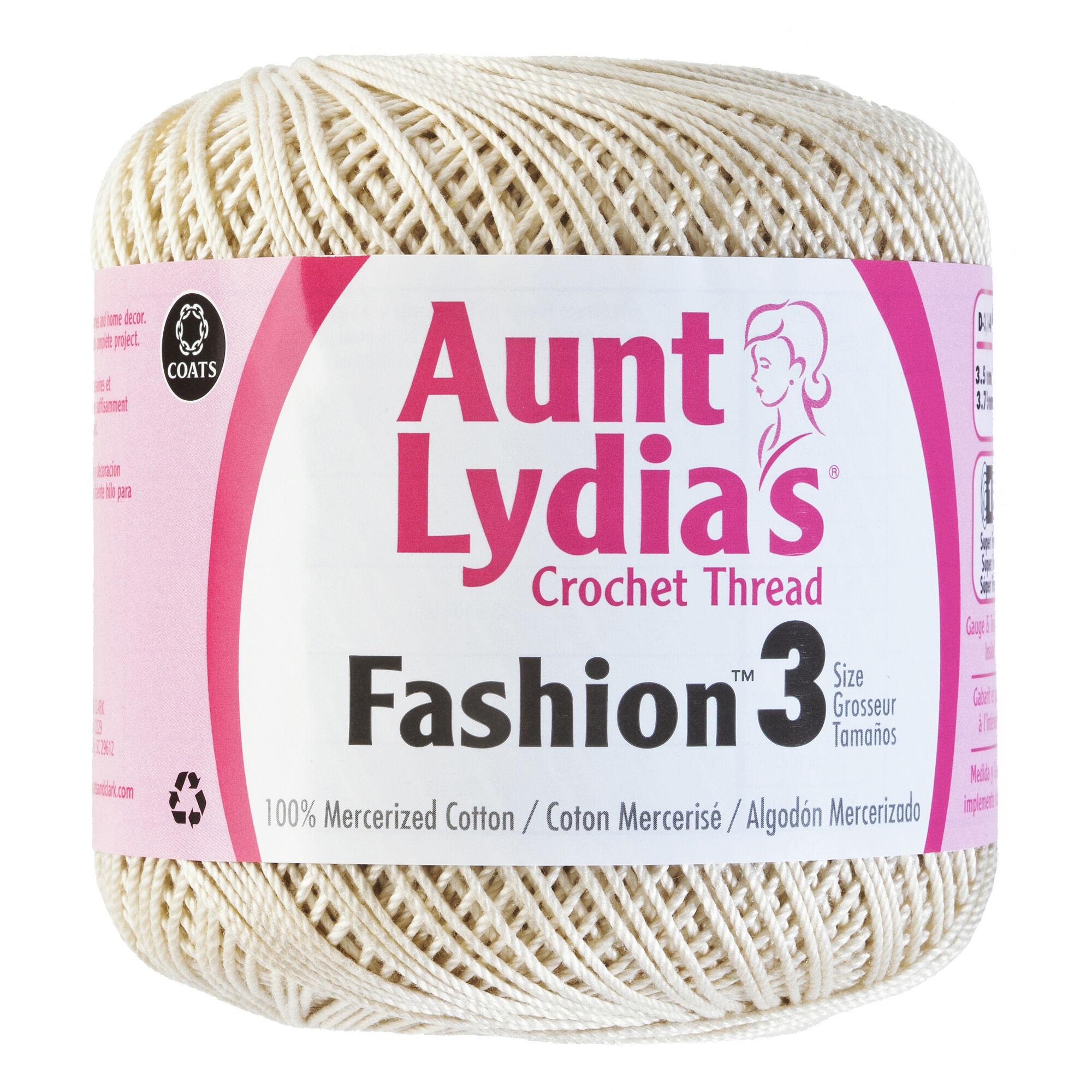 Coats Crochet Aunt Lydia/'s Fashion Crochet Thread Size 3-Purple