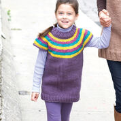 Bernat Striped Yoke Pullover, 4 yrs