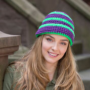 Red Heart Snappy Stripe Hat