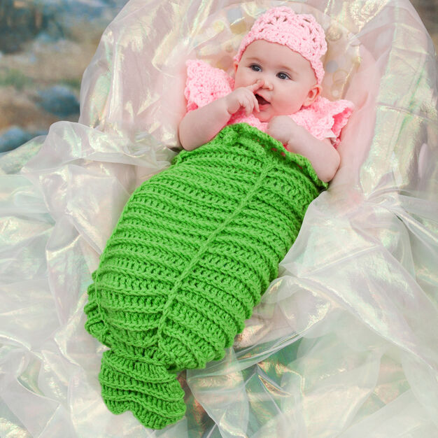 Red Heart Mermaid Cocoon, 3 mos in color