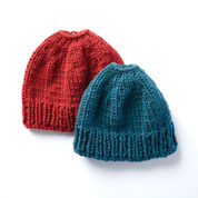 Go to Product: Bernat Family Fun Messy Bun Knit Hats, Adult in color