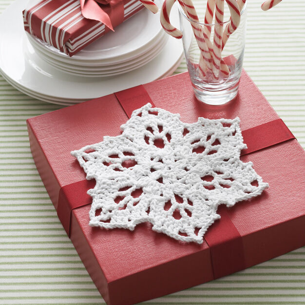 Bernat Snowflake Dishcloth in color
