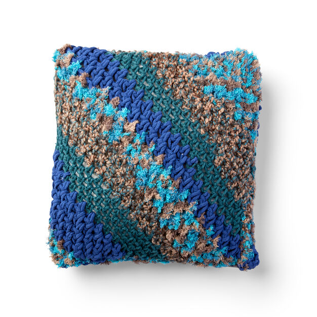 Bernat Corner to Corner Crochet Pillow in color