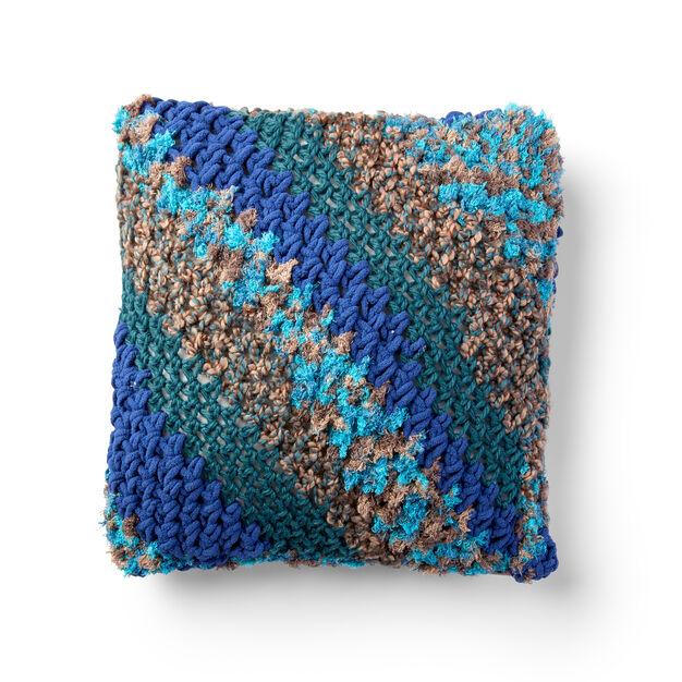 Bernat Corner to Corner Crochet Pillow in color