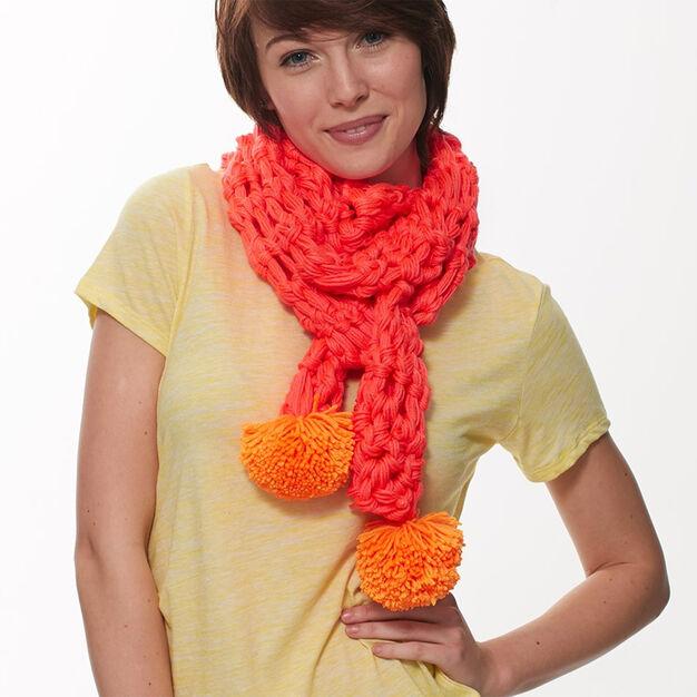 Caron Neon Finger Crochet Scarf in color