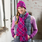 Go to Product: Red Heart Woven Stitch Hat & Scarf in color