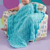 Red Heart Baby Waves Blanket