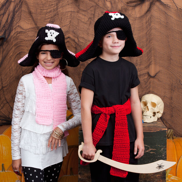 Red Heart Child's Pirate Costume in color