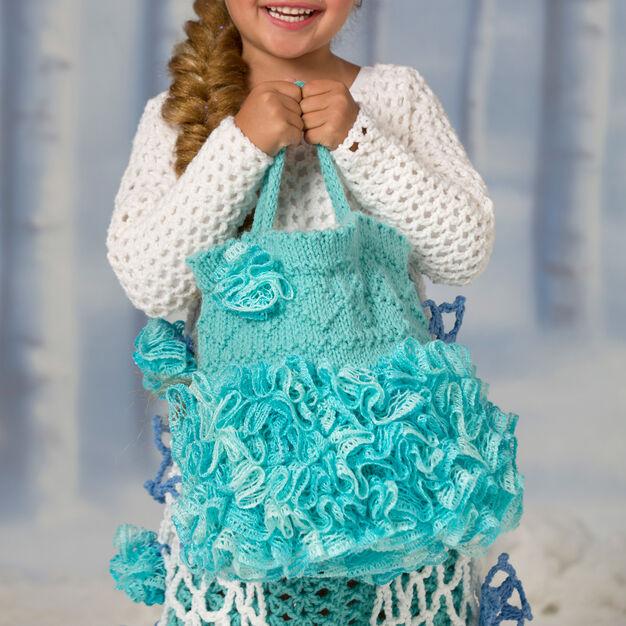 Red Heart Snow Princess Trick or Treat Bag