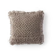 Bernat Bullion Loop Crochet Pillow