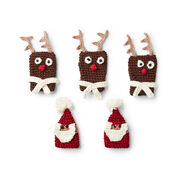 Bernat Crochet Bottle Toppers, Santa