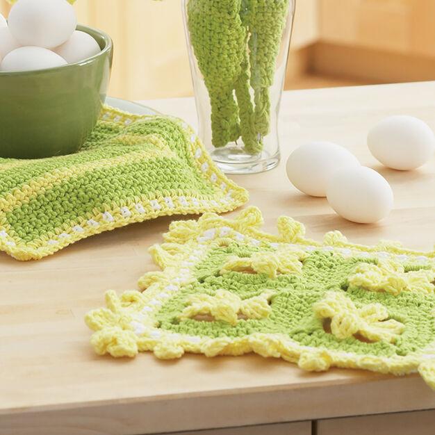 Lily Sugar'n Cream Daffodil Dishcloths