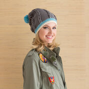 Go to Product: Red Heart Cabled Hat with Pompom, S in color