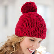 Red Heart Great Garter Knit Hat