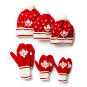 Patons Canada Knit Toque and Mittens , Child 4/6