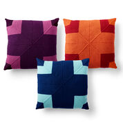 Caron Big Statement Knit Pillow, Deep Violet