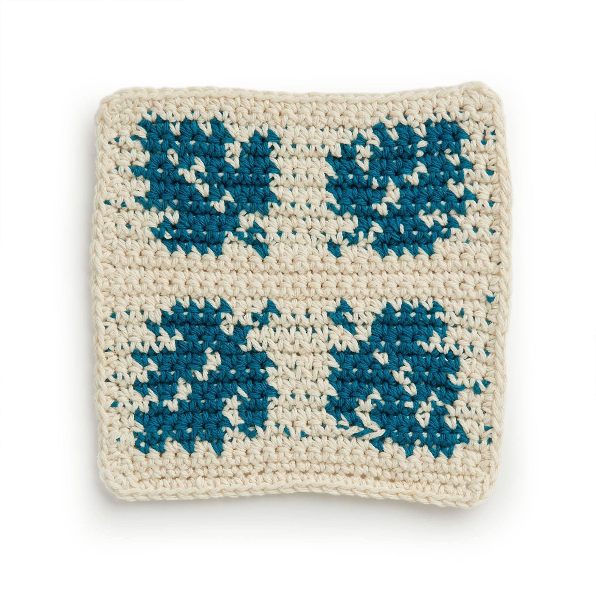 Lily Botanical Crochet Dishcloth   Yarnspirations