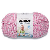 Go to Product: Bernat Baby Blanket Twists Yarn, Pink Twist in color Pink Twist