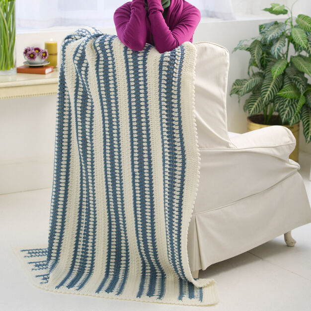 Red Heart Blue Ice Throw