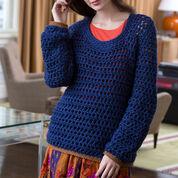 Red Heart Summer Night Sweater, S