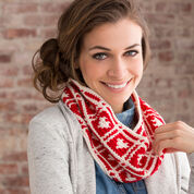 Red Heart Hearts Around Cowl
