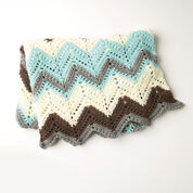 Caron Cabin In The Woods Crochet Afghan, Blue
