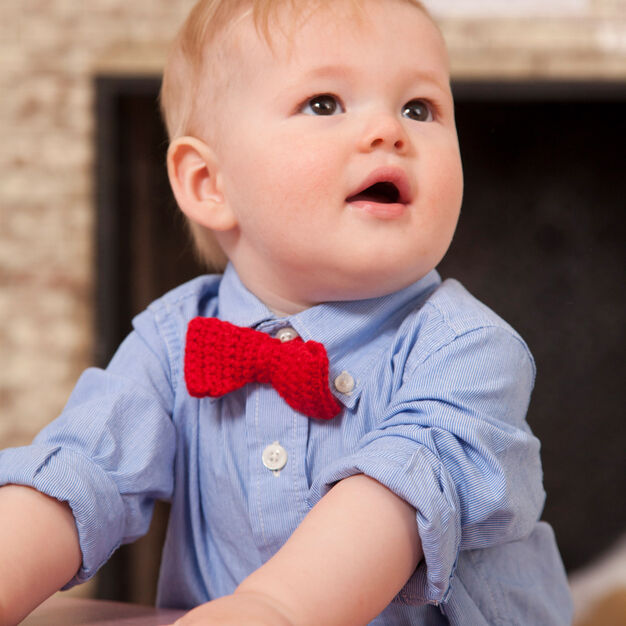 Red Heart Bowtie for Little Man in color